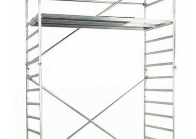 Hliníkové modulové lešení 0,7×2 m, pracovní výška 2,80 m